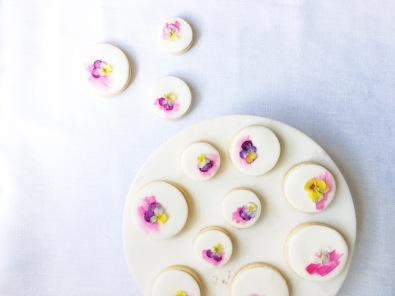 Floral biscuits - Sky Meadow Bakery blog
