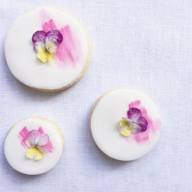 Edible flower biscuits - Sky Meadow Bakery