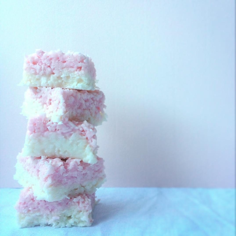 Coconut Ice - Sky Meadow Bakery blog