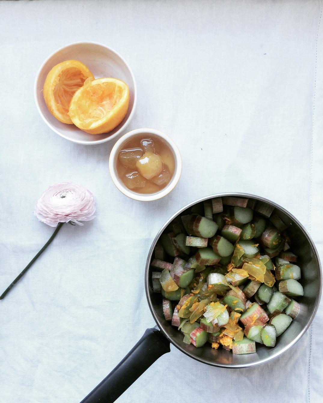 Stewed Rhubarb - Sky Meadow Bakery blog